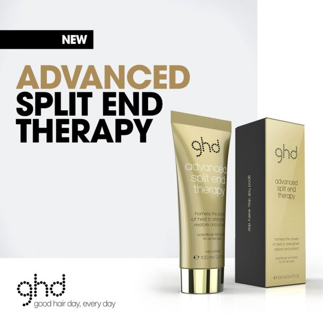 ghd advanced split end therapy 100ml and ghd paddle brush. Black Bedroom Furniture Sets. Home Design Ideas