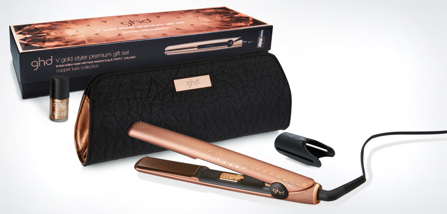 Treat her to the perfect ghd Xmas gift. with the new  GHD Copper Luxe styler
