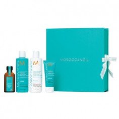 Moroccanoil Moisture Repair Ultimate Gift Set - 250ml Shampoo & Conditioner & 25ml Treatment & 75ml Masque