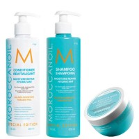 Moroccanoil Trio - Moisture Repair Shampoo and Conditioner and Hydrating Mask Light